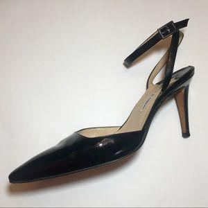 Manolo Blahnik Patent Leather Ankle Strap Pumps